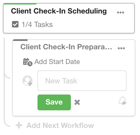 Add A Task To A Next Workflow In Hubly
