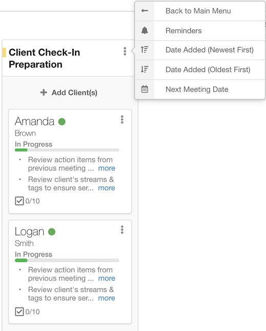 Sort Clients By Next Meeting Date In Hubly Workflows